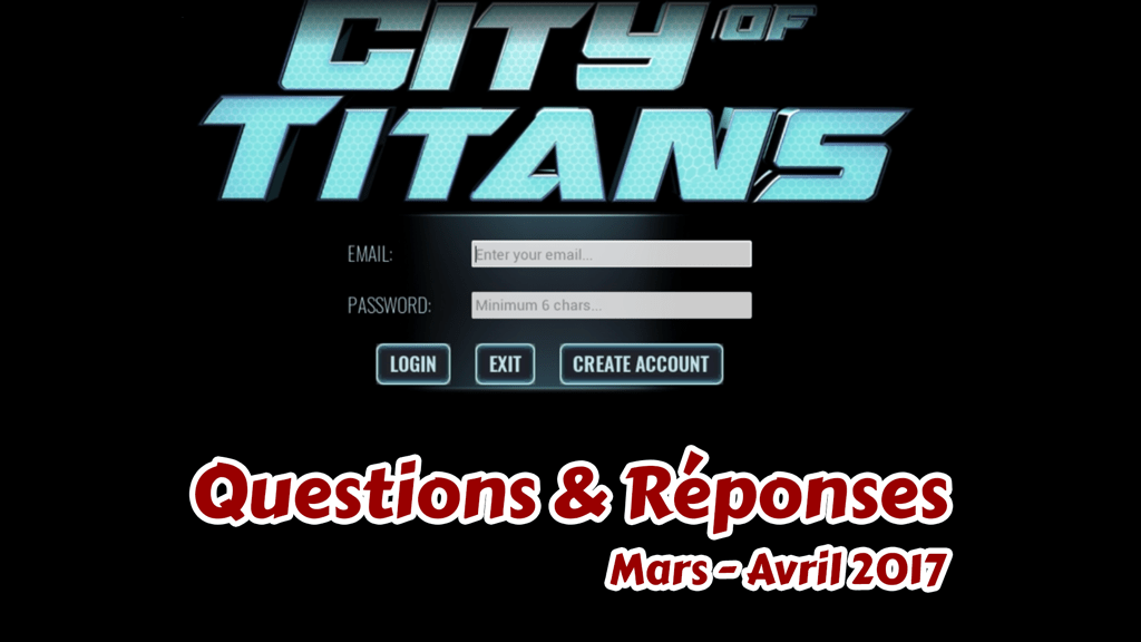question reponse city of titans 2017