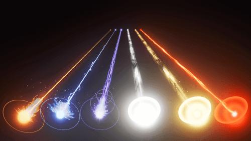 Effet de rayons laser