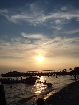 sunset di Pulau Untung Jawa, Juli 2012