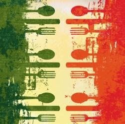 background restaurant poster vector retro titanui fork splash knife