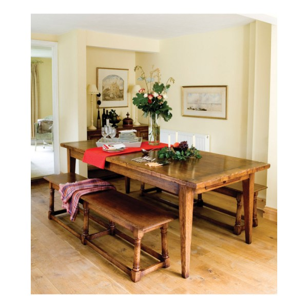Oak Farmhouse Dining Table Kitchen