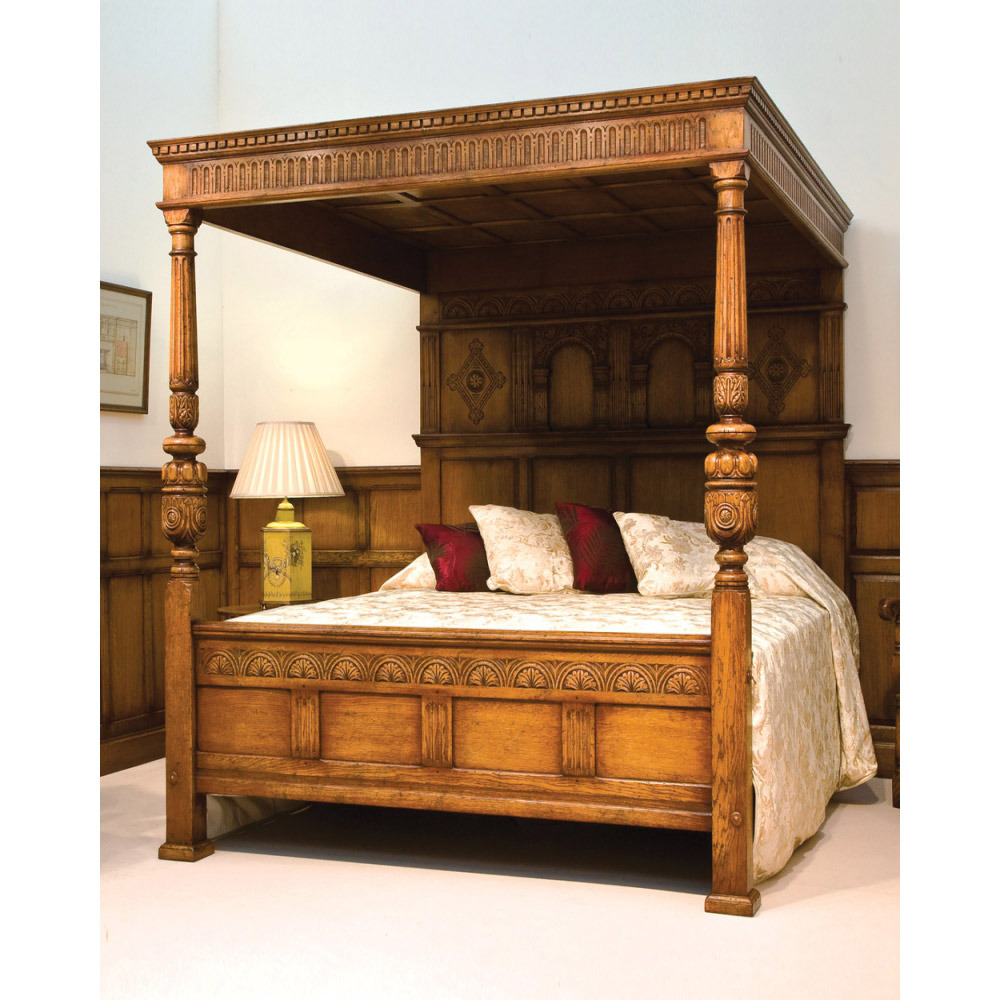 English Oak Magnificent FourPoster Bed  Titchmarsh  Goodwin