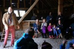 Storytelling at the Tithe Barn open day