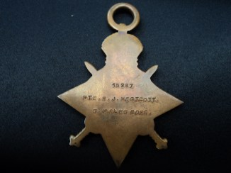 1914-1915 Star of William Westcott, South Wales Borderers