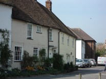 old houses on main street in East Meon