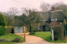 Old hous (Drovers Return) in Old Alresford taken in April 1992