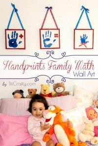 DIY Family Math Handprints Wall Art | The Crafting Nook by ...