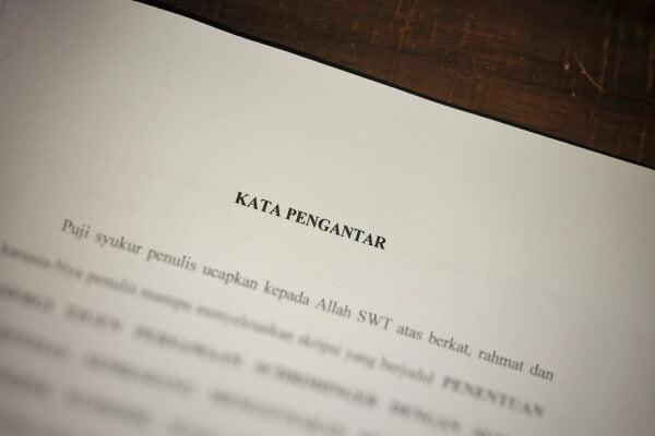 Contoh Kata Pengantar Makalah Laporan Proposal Skripsi Dll