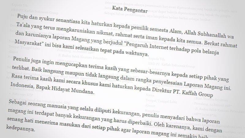23 Contoh Kata Pengantar Makalah Laporan Proposal Skripsi
