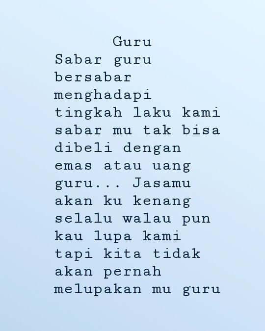 37 Puisi Guru Singkat Guruku Tercinta Pahlawan Tanpa Tanda