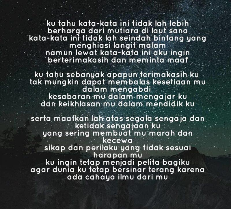 Puisi untuk guru tercinta