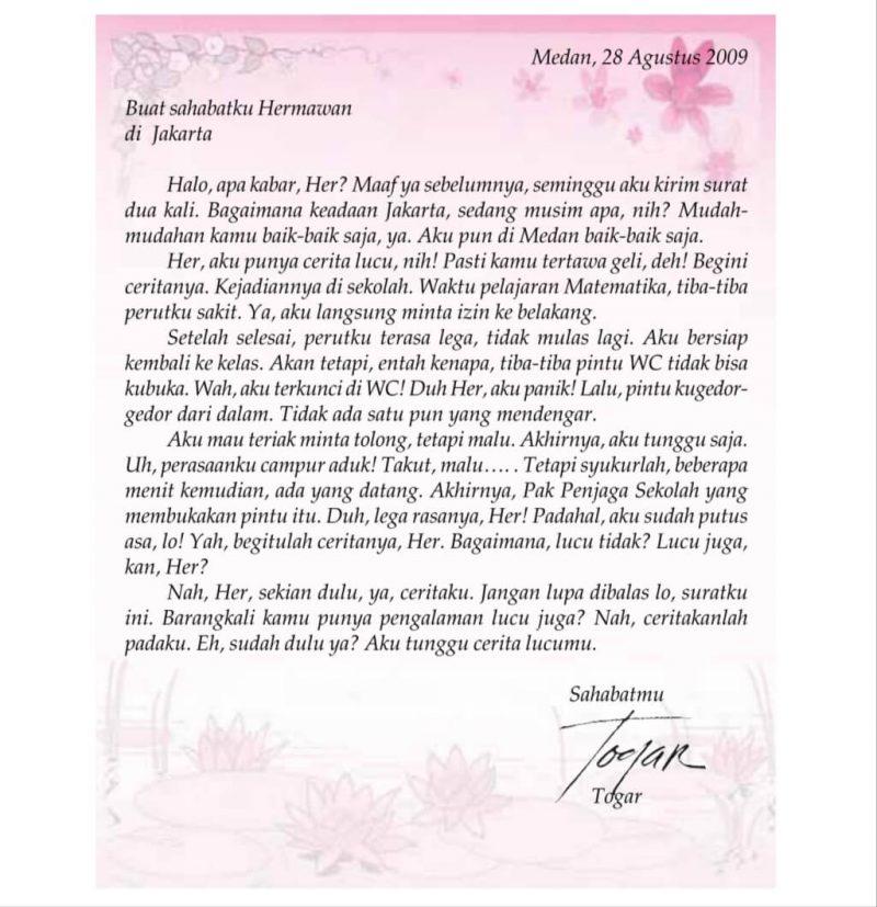 9 Contoh Surat Pribadi Untuk Sahabat Orang Tuankeluarga