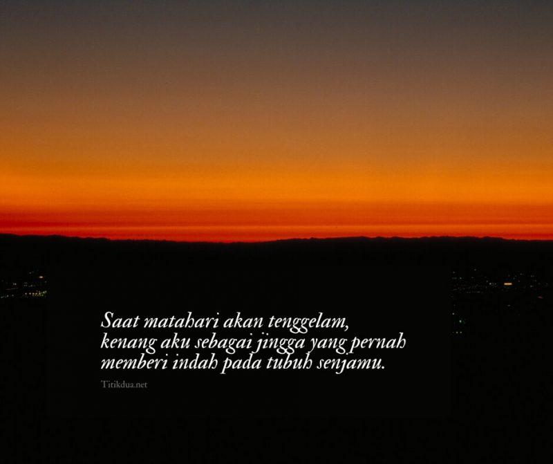 Kata kata sunset