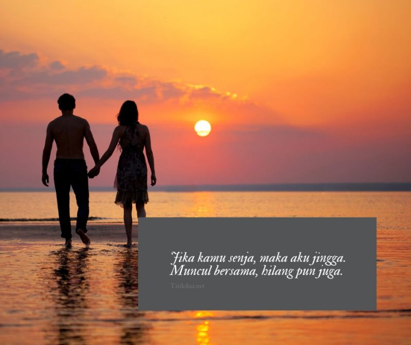 Senja yang indah bersama pasangan
