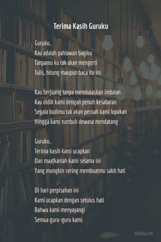 Puisi Perpisahan untuk Guru Tercinta