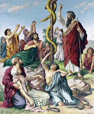 Salah satu mukjizat Nabi Musa, tongkat menjadi ular besar