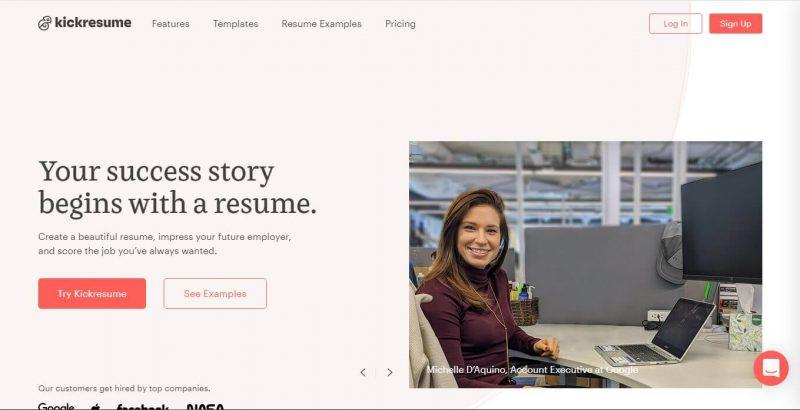 Membuat resume di Kickresume.com