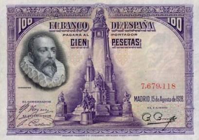 billetes-espana-republica-espanola-1928-edif-c6-mbc-100-pesetas-cervantes-sin-serie