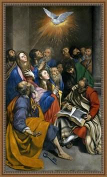 La venida del Espíritu Santo - Juan Bautista Maino