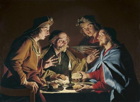 La cena de Emaús - Matthias Stom
