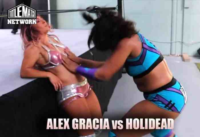 Alex Gracia vs Holidead (Women's Wrestling) Mission Pro Wrestling 1200x675 Title Match Network no logo