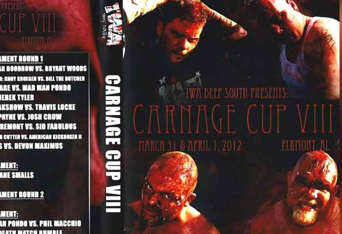 IWA Deep South Carnage Cup 8 VIII JPG Template 1200x675 Title Match Network-min