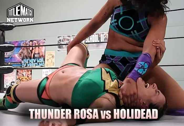 Thunder Rosa vs Holidead - Women's Wrestling (Mission Pro Wrestling) Title Match Network 1200x675 New no logo