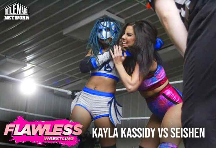 Kayla Kassidy vs Seishen 1200x675 Graphic Title Match Network - Flawless Women's Wrestling NEW
