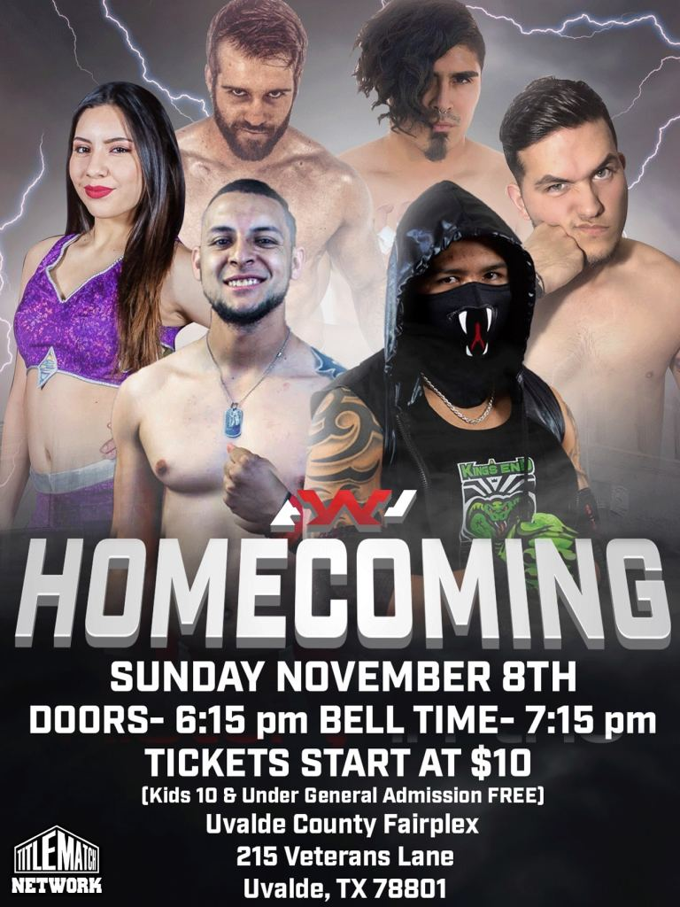 Atlas Wrestling Promotion Homecoming 18x24 Poster Title Match Network