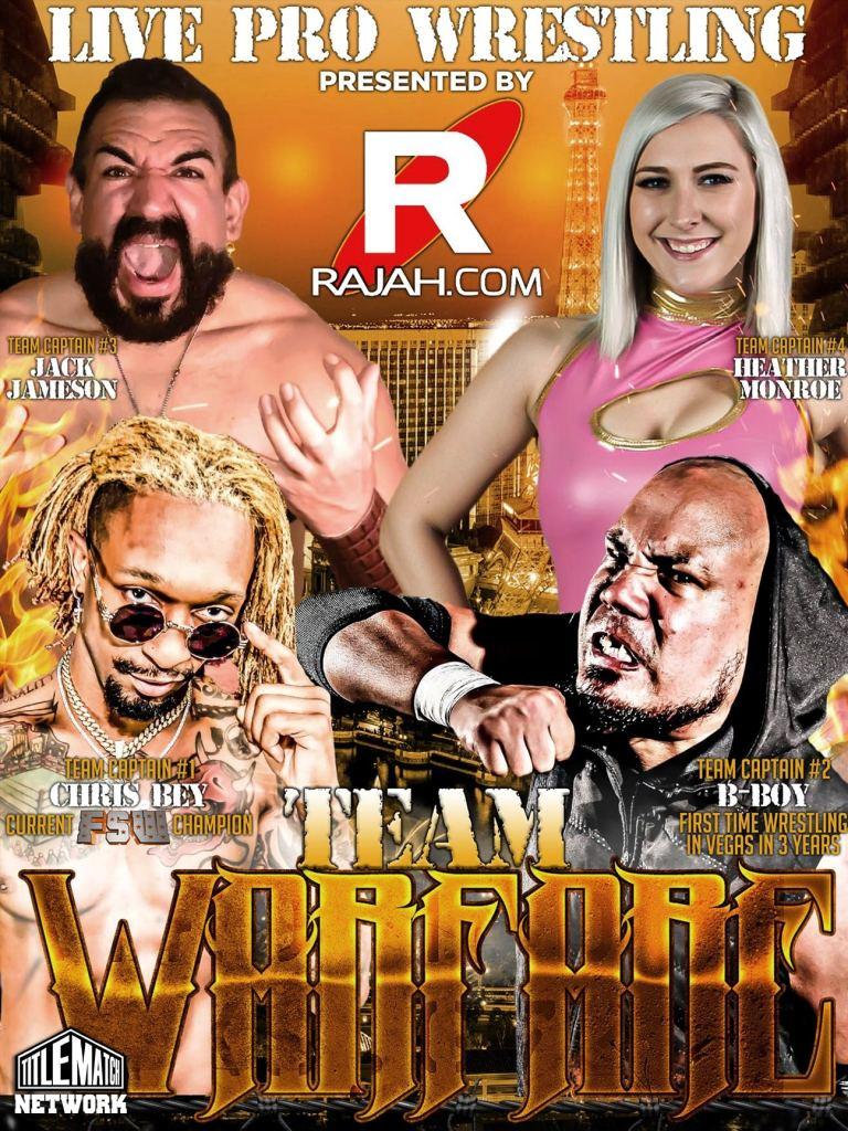 Rajah FSW Team Warfare 6.29.19 Poster 18x24 Title Match Network