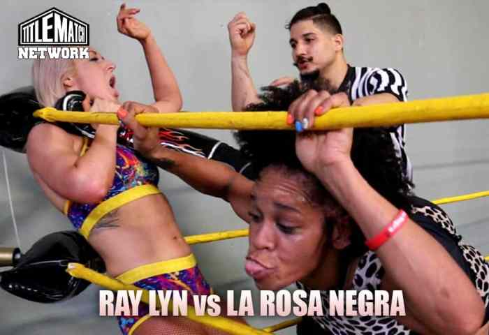 Ray Lyn vs La Rosa Negra Customs Mission Pro Wrestling JPG 1200x675