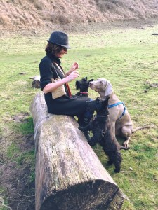 Clare Rogers from the Treatment Rooms and her dogs plus a friend