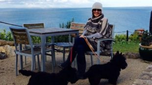 Clare Rogers from the Treatment Rooms and her dogs