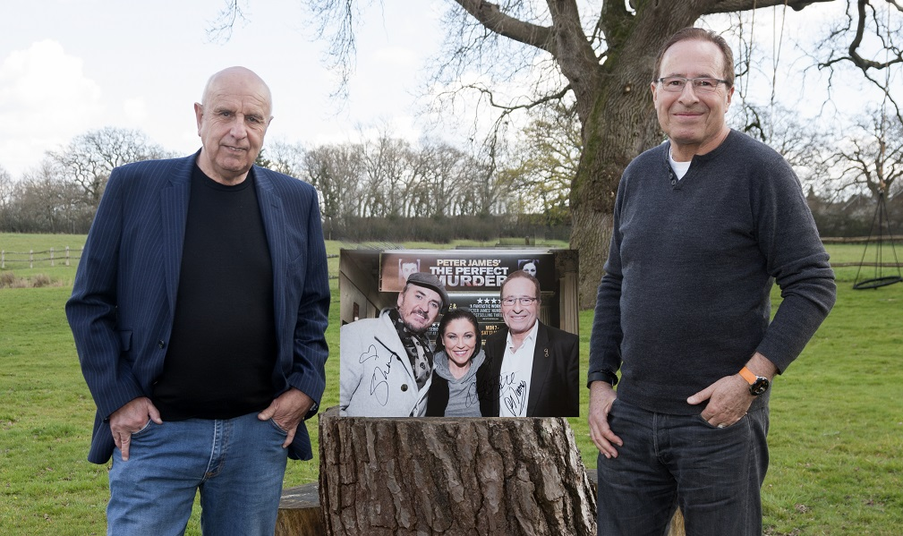 Graham Franks and Peter James with a charity photo for Title Sussex Magazine www.titlesussex.co.uk