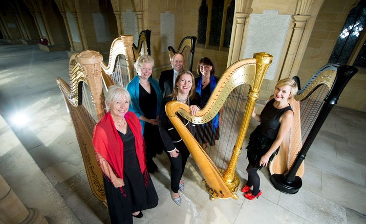 Glissando harpists at Burgess Hill Festival Title Sussex Magazine www.titlesussex.co.uk
