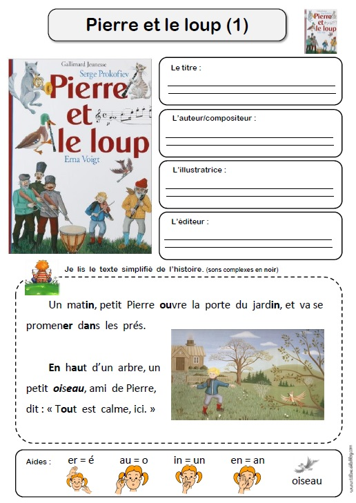 pierre et le loup | Pierre et le loup, Loup, Thème maternelle