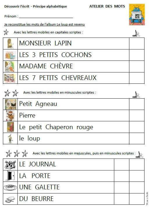 Le Loup Est Revenu Maternelle : revenu, maternelle, Album, Revenu, TitLine, L'école