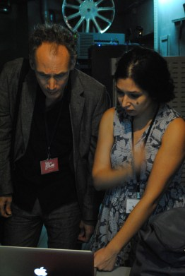 However, modern projectionist Nisrine (right) has everything under control.