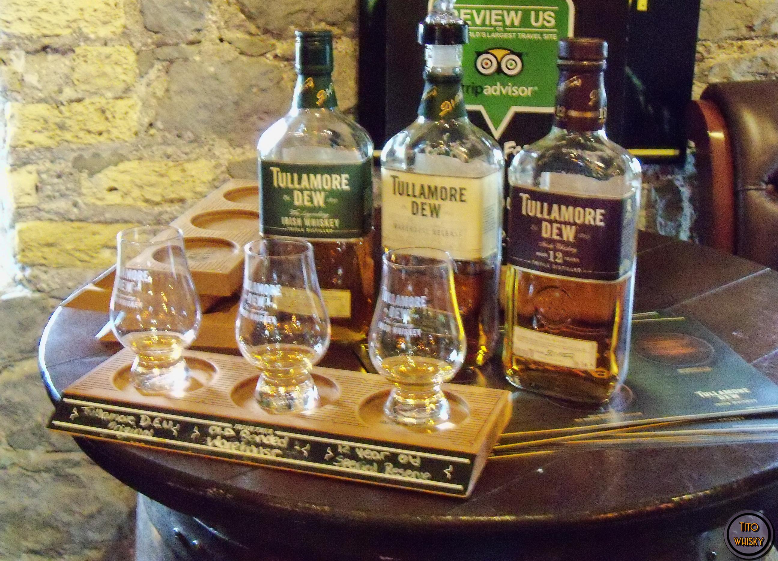 Degustando whisky Tullamore
