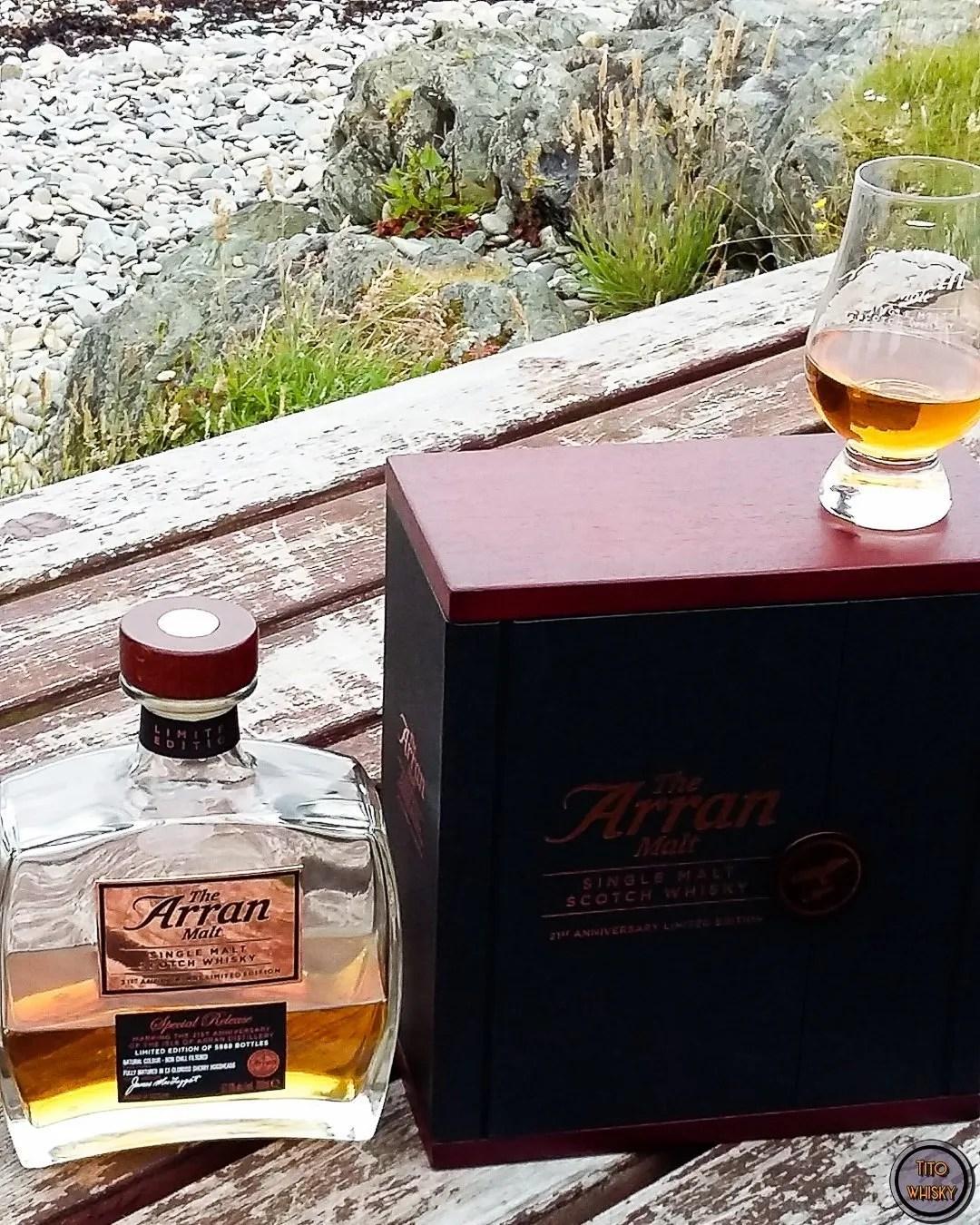 Whisky Arran 21 aniversario