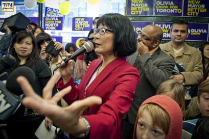 opening of Olivia Chow Mayoral campaign headquarters in Toronto. Sunday April 6th, 2014. Photo by Helia Ghazi/NVP