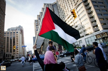 Toronto, July 11,2014, Protest in front of the Israeli consulate. Photo By Pooyan Tabatabaei