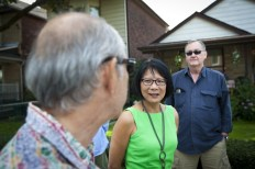 Olivia Chow; Toronto Mayoral Candidate and Mount Dennis residents share their concerns about John Tory's Transit Plan Photo By Pooyan Tabatabaei