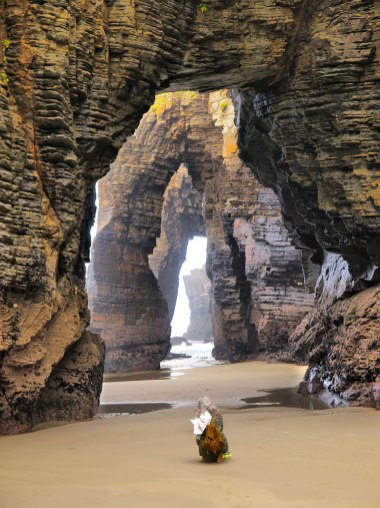 The Beach of the Cathedrals, Ribadeo, Spain. The stunning cathedral-like arches and buttresses of this beach in Spain were formed by pounding water over thousands upon thousands years.. Image credits: imgur.com