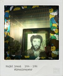 A picture taken with an iPhone on September 21, 2014 and processed with Hipstamatic and Polamatic applications shows a portrait of Majid Irani inside a decorative box next to his grave at the martyrs section of Behesht-e Zahra (Zahra's Paradise) cemetery, south of Tehran. Irani was a 22 year old Iranian military service Army soldier, killed on May 31, 1986, in the city of Abadan ,during the Iran-Iraq war (1980-88). The war between Iran and Iraq was the longest conventional war of 20th century and was officially started on September 22, 1980, when Iraqi armed forces invaded western Iran and ended on August 20, 1988, when Iran accepted the United Nation's ceasefire resolution 598. More than one million people died in the eight-year war