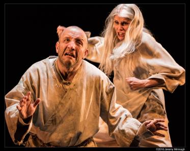 Ron Kennell and Jani Lauzon in The Death of The King - Photo by Jeremy Mimnagh