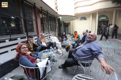 Lunch time at alliance francaise, Levon Haftvan, Majid Movasseghi, Amir Esfandiary, Mahtan Keramti