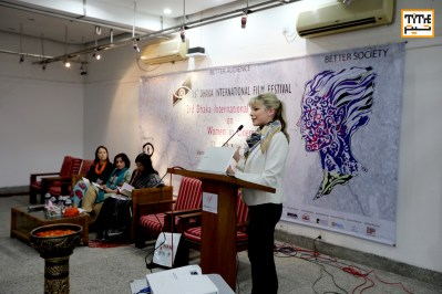 Bernadette Claire, delivering her lecture on Women's power