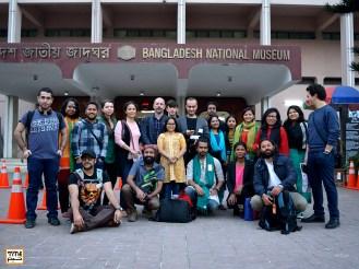 هنرجویان کارگاه فیلم سازی فستیوال در کنار مجید موثقی مدرس کارگاه