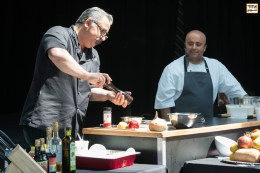 Chef Hoss Zaré and Chef Hamid Salimian's workshop on Persian Cuisine at Tirgan Festival in Toronto. 2017